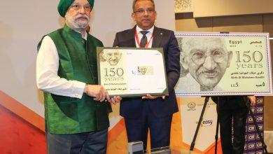 """صورة """"البريد"""" تصدر طابع بريد تذكاري لمرور 150 عام على ميلاد الزعيم غاندي"""